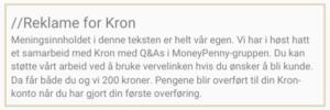 Reklamemerking Kron